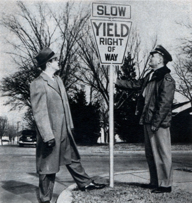The original yield sign was keystone-shaped