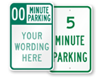 5 Minute Parking Signs