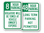 Limited Time Parking Signs