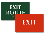 Braille Exit Signs   Tactile Exit Signs