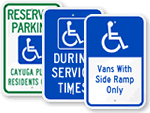 ADA Handicapped Parking Sign Templates