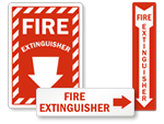 Directional Fire Extinguisher Signs