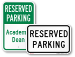 All Reserved Parking Signs
