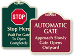 Signature Automatic Gate Warning Signs
