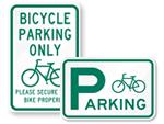 Bike Parking Signs