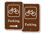 Brown Bike Parking Signs