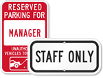 Business Parking Signs - by Title
