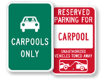 Carpool Parking Signs