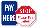Cashier Signs