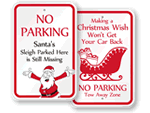 Christmas Parking Signs