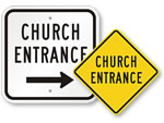 Church Entrance Signs