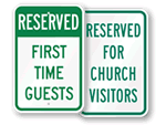 Church Visitor Parking Signs