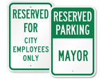 City Hall Parking Signs