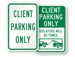 Client Parking Signs