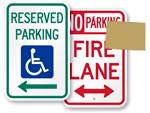 Colorado Parking Signs, Fire Lane Signs and Other Regulated Signs