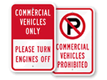 Commercial Vehicle Parking Signs