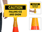 ConeBoss Safety Signs for Traffic Cones