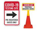 Coronavirus Testing Center Signs