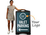Custom BigBoss A-Frame Signs for Parking Lots