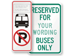 Custom Bus Signs