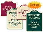 Custom Designer Parking Signs
