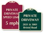 Custom Driveway Signs (Designer)