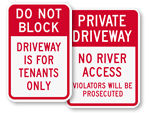 Custom Driveway Signs (Traditional)