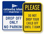 Custom Drop Off Signs