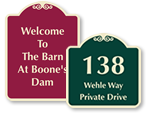 Custom Outdoor Entrance Signs