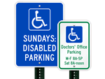 Custom Handicapped Parking Signs