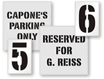 Custom Pavement Stencils for Reserved Parking Spaces