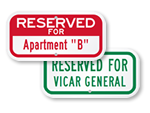 "Custom Supplemental ""Title"" Signs"