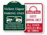 Custom Tow-Away Signs