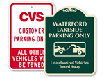 Custom Tow Sign Templates