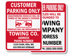 Customer Parking Only Lots