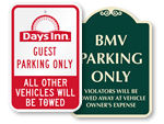 Customized Tow Away Signs