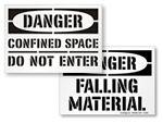 Danger Floor Stencils
