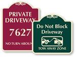 Designer Driveway Signs