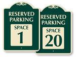 Designer Parking Spot Signs