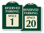 Designer Parking Spot Signs