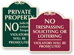 Designer Security Signs