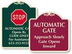 Signature Gate Signs
