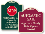 Signature Gate Signs