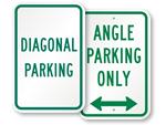 Diagonal Parking Signs