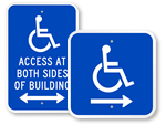Directional Access Signs