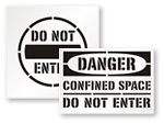 Do Not Enter Stencils