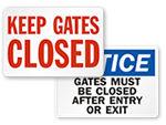 Dog Gate Signs