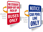 Double-Sided Drop Off Signs