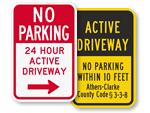 Custom Driveway Sign Templates