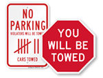 Edgy Tow Away Signs